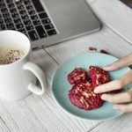 Body-Renewer-Overcome-Overeating-Cookies-and-coffee-next-to-a-lap-top